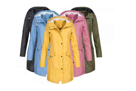 My Blu Fish - Waterproof raincoat choose from five colours and UK sizes 12 To 18 - Save 73%