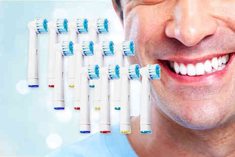 Maxwe - 12 Oral B compatible toothbrush heads - Save 0%
