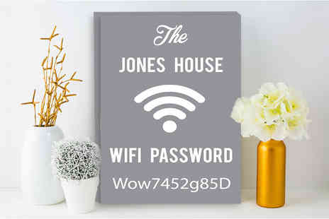 Deco Matters - Personalised wi-fi password canvas - Save 90%