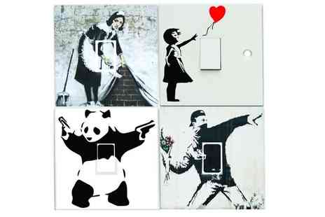 Deco Matters - Banksy light switch stickers - Save 90%