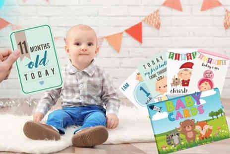 Black Feather - Double sided milestone baby cards for boys and girls - Save 60%
