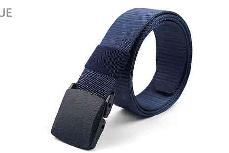 Laizza uk - Mens No Hole Canvas Belt With Plastic Buckle Choose from Six Colours - Save 77%