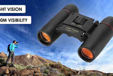 Secret Storz - Day And Night Vision Folding Binoculars Choose from 1000m Range - Save 87%