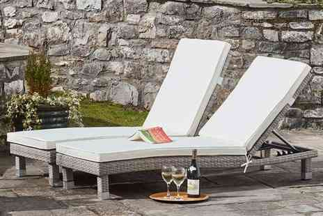 CJ Offers - Rattan sun lounger twin pack or Twin pack with covers - Save 38%