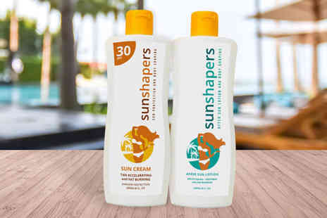 SunShapers - 200ml bottle of sun cream or after sun - Save 60%