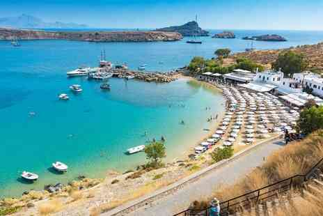 Super Escapes Travel - Luxury seven nights all inclusive Rhodes getaway with return flights - Save 28%