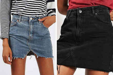 Backtogoo - Mini denim skirt choose from three designs and UK sizes 10 To 16 - Save 67%