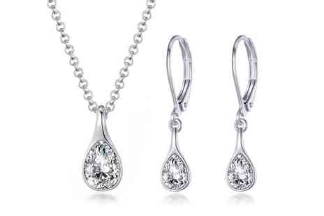 Philip Jones - Raindrop jewellery set - Save 50%