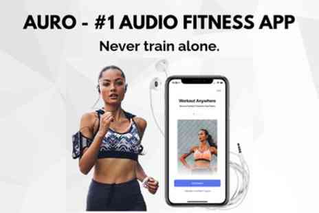 Auro - Three Month Subscription to Auro Personal Trainer App - Save 81%