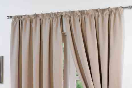 Groupon Goods Global GmbH - Single or Double Window Blackout Curtain in Choice of Size and Colour - Save 0%