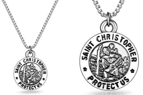 Groupon Goods Global GmbH - One or Two Philip Jones St. Christopher Necklaces - Save 0%
