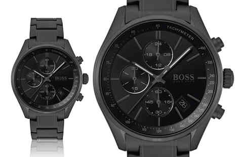 Direct E Trade - Hugo Boss mens grand prix all black watch - Save 60%