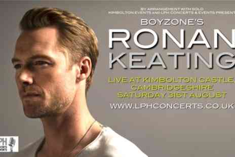 Ronan Keating Live at Kimbolton Castle - One child or adult general admission ticket or two adult general admission tickets on 31st August - Save 10%