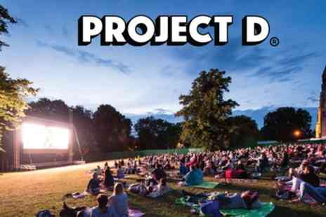Project D - Outdoor Cinema Experience from 8th August To 8th September - Save 42%