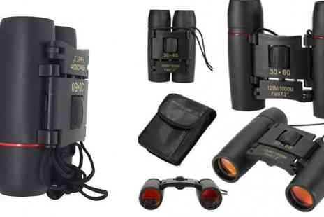 HXT Goods - Day And Night Vision Folding Binoculars Choose from 1000m Range - Save 90%
