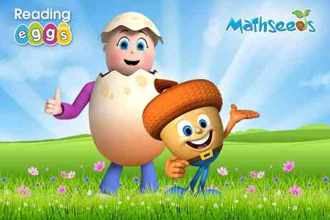 Reading Eggs - Mathseeds Annual Subscription Award Winning Online Reading and Maths Programme - Save 41%
