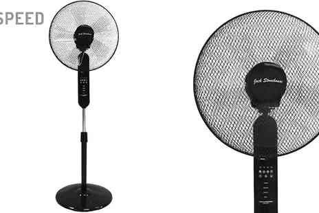 Garden & Camping - Speed Oscillating Pedestal Fan with Remote Control - Save 67%