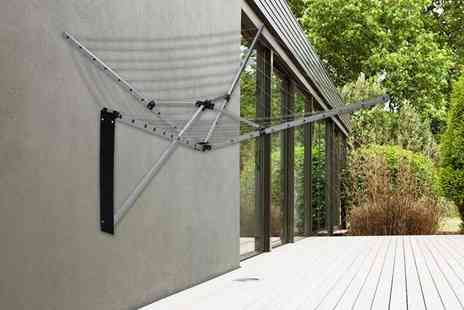 Who Needs Shops - 27 metre folding wall mounted clothes dryer - Save 74%