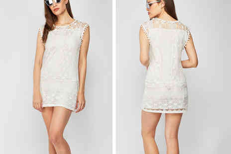 Cascabelle - White lace dress - Save 56%