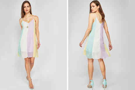Cascabelle - Rainbow beach swing dress - Save 63%