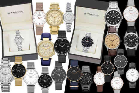 Gray Kingdom - Luxury mystery watch deal for him or her Choose from Tag Heuer, Emporio Armani, Michael Kors, Daniel Wellington and Luke Henry - Save 0%