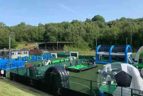 Soccer Zone - Childrens Inflatables and Five A Side Football Party with Optional Food for Up to Ten - Save 20%