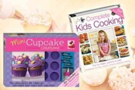 The Book Stalk - Recipe Books One Sets Containing Mini Cupcake Creations and Complete Kids Cooking - Save 55%