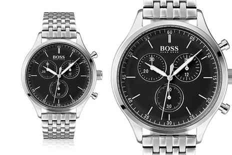 The Best Watch Shop - Hugo Boss mens HB1513652 silver navigator watch - Save 60%