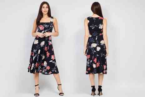 Groupon Goods Global GmbH - Floral Print Skater Dress - Save 0%