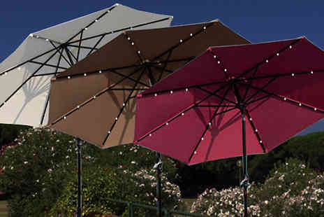 Mhstar - Xl Led Solar Powered Parasol Choose from Three Colours - Save 63%