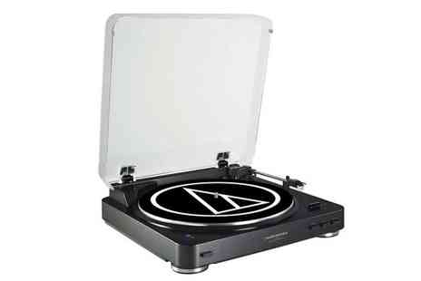 Magic Vision - Audio Technica AT-LP60BKBTU Bluetooth turntable - Save 16%