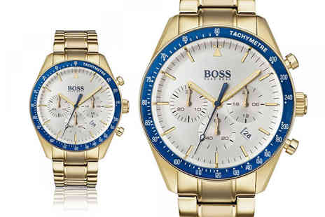 The Best Watch Shop - Hugo Boss gold 1513631 trophy watch - Save 65%