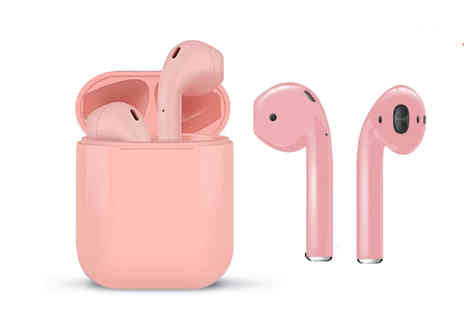 Magic Trend - Pair of next gen Apple Compatible i10 Bluetooth headphones or Pair of headphones with durable silicone case choose between five colours - Save 77%