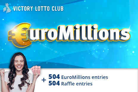 JAYMO Solutions - 504 syndicated EuroMillions lines and 504 syndicated raffle entries - Save 80%