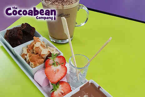 The Cocoabean Company - Chocolate fondue and hot chocolate for one person - Save 51%