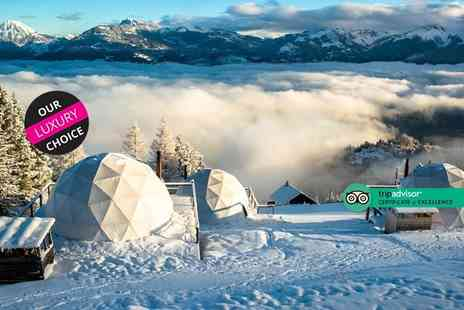 World2Travel - Two nights Swiss Alps luxury Eco Pod stay with breakfast, cookies, afternoon tea and return flights - Save 22%