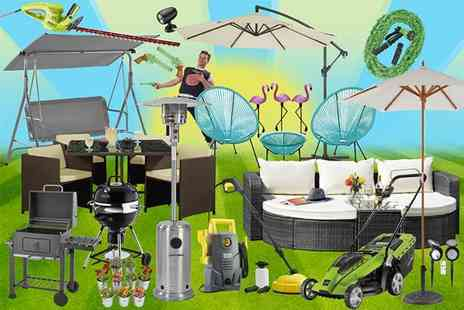 Esher Mail Order - Mystery summer garden deal rattan sets, barbecues, pressure washer, lawnmowers, parasols and more furniture and gadgets for the garden and home - Save 0%