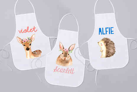 Your Perfect Canvas - Personalised kids apron - Save 64%