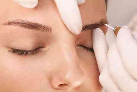 London Body Centre - Semi permanent hair stroke eyebrow microblading treatment with aloe vera aftercare balm to take home - Save 0%