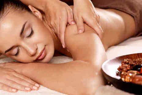 Chardae - 90 minute pamper package including a massage, express facial, glass of bubbly and gift bag - Save 73%