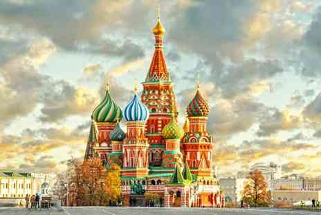 Travel Center - Four nights Moscow and St Petersburg getaway with train between cities and return flights - Save 23%