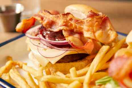 Chunky Fried Chicken - Choice of Burger with Side and Drink for Two - Save 26%