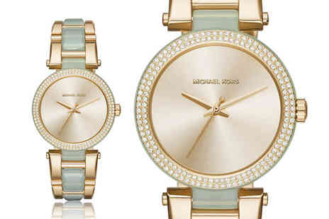 Cheap Designer Watches - Ladies Michael Kors two tone diamante watch - Save 51%