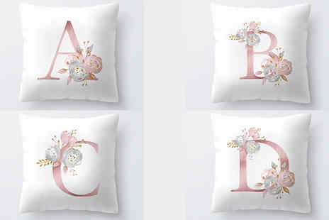 hey4beauty - Alphabet Printed Pillow Cover Choose from 26 Options - Save 80%
