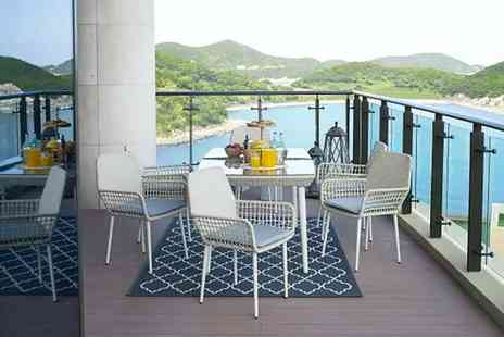 UK Furniture Store - Seven piece rattan dining set or include a rain cover - Save 62%