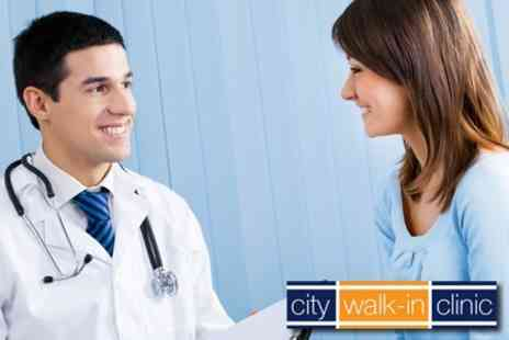 City Walk-in Clinic - Comprehensive Head to Toe Medical Assessment Plus GP Consultation including Full Blood Profile - Save 76%