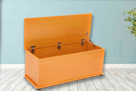 Who Needs Shops - Ottoman wooden beech storage chest - Save 72%
