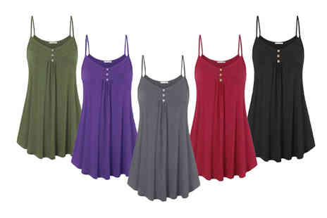PinkPree - Swing cami top choose from eight colours - Save 63%