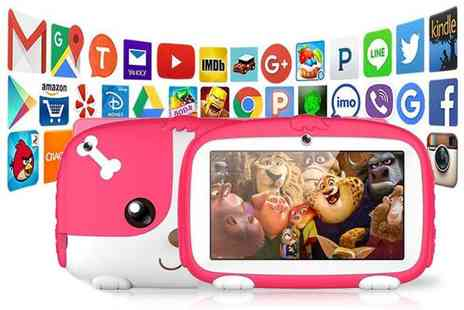 Litnfleek - Seven inch 512MB iPuppy interactive kids tablet, £39 for a 1GB tablet choose from four colours - Save 74%