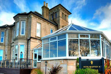 Fairfield House Hotel - Overnight Ayr break for two people with a glass of Prosecco on arrival, three course dinner in a AA Rosette awarded restaurant, leisure access, breakfast and late check out - Save 48%